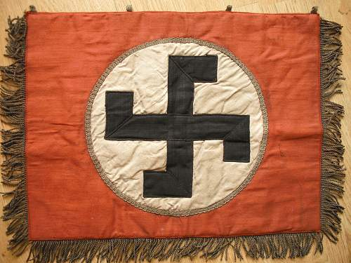 Early 20s nsdap trumpet banner