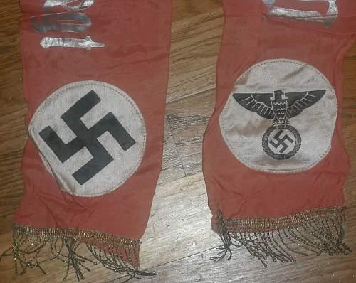 Original Nazi funeral Sash???