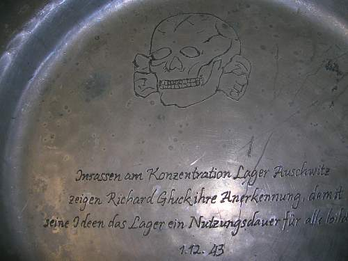 SS Auschwitz plate for your opinions