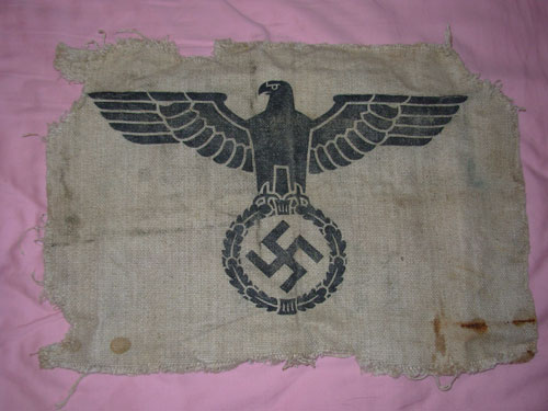 What is this German Item?  Flag?  Banner?  Cover? Tent?  I don't have a clue...