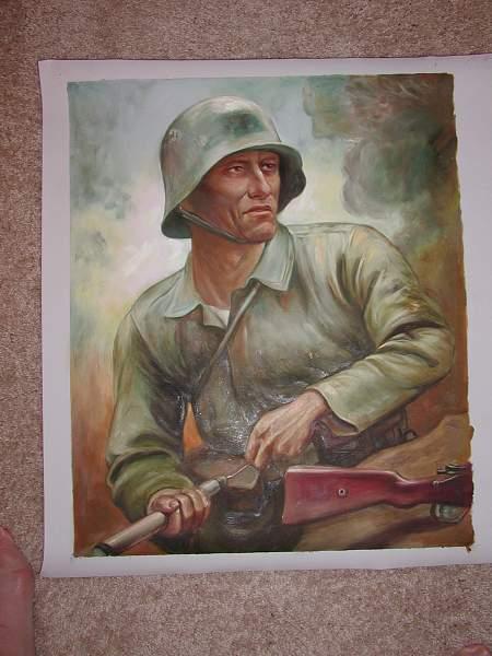 War Portrait with Grenade