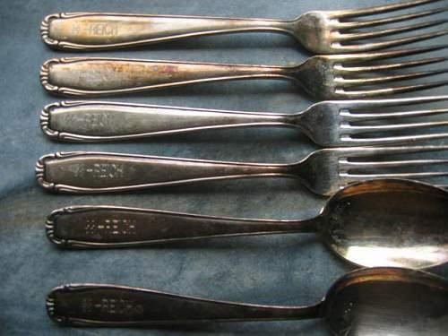 SS reich Silver Fork spoon knife