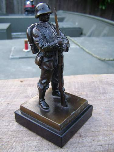 Bronze German Soldier Estate Find Info Needed?