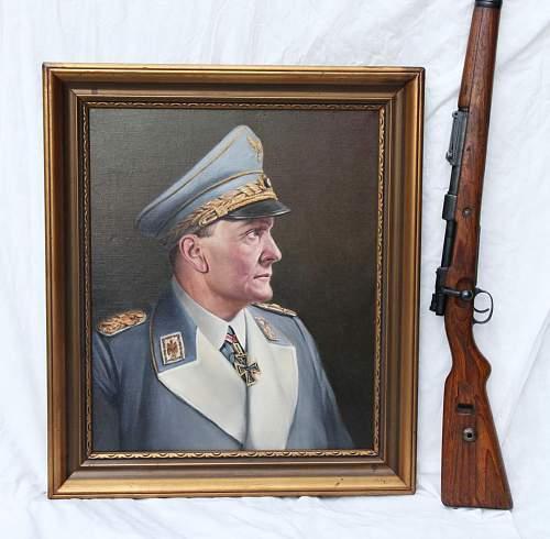Adolf Hitler portrait painting original