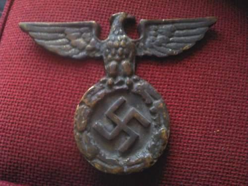 Cast iron eagle with swastika, original?
