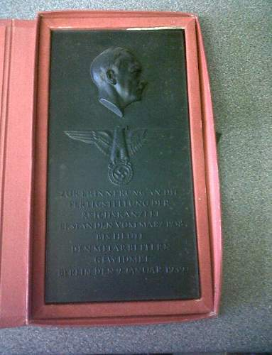 Arno Breker plaque, help please......