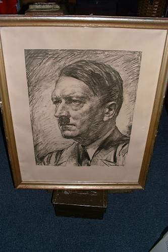 Adolf Hitler lithograph from Jersey, Channel Islands