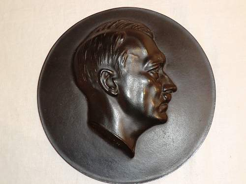 Hitler head plaque by Arno Brecker