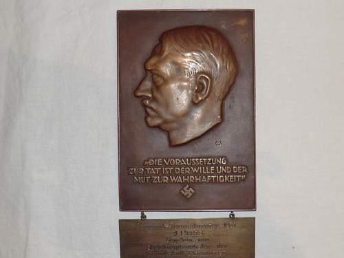 Nazi tennis trophy