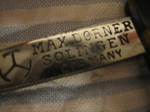 Hitler Max Dorner Straight Razor Solingen..What is this??