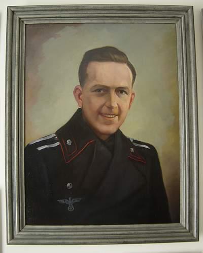 Portrait of a Heer Panzer NCO