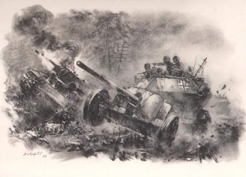 "Set of prints: ""Panzergrenadier"""