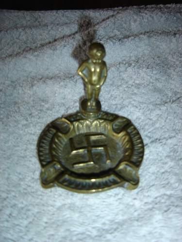 Belgian swastika ashtray