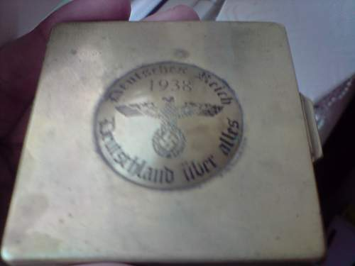 brass compact case 1938 look
