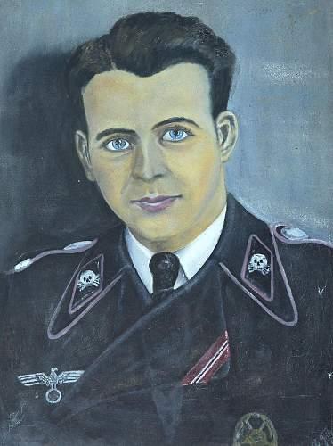 German soldier self portrait