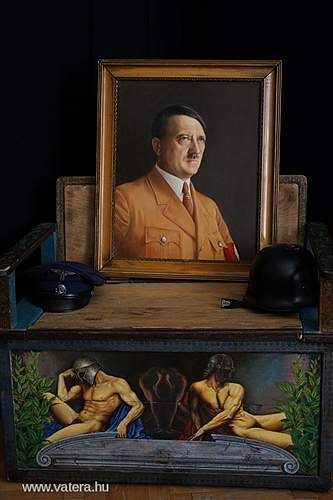 Adolf HITLER - 1937 oil painting - Asztalos Gy. -  RARE with Certificate