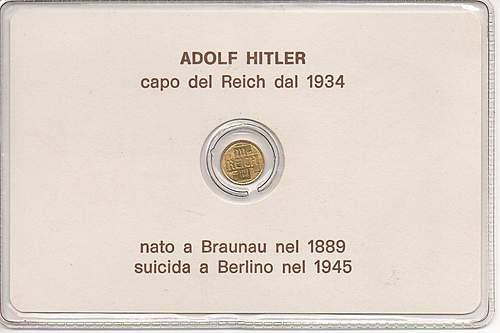NAZI Coin Adolf Hitler GOLD 3rd Reich