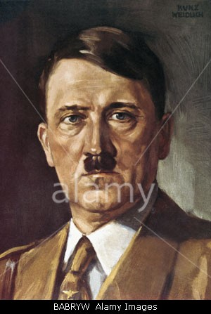 Hitler oil painting by Weidlich Kunz?