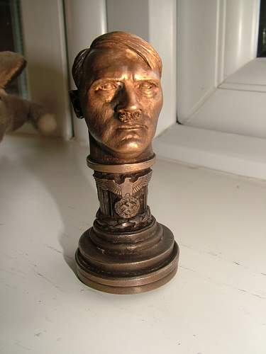 Hitler bust with stamp info please
