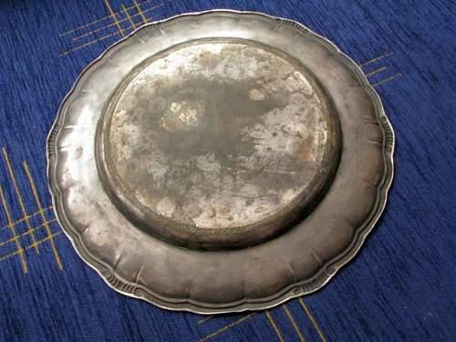 SS presentation plate Plate