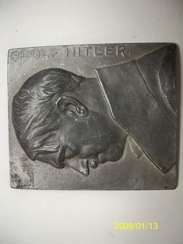 hitler plaque