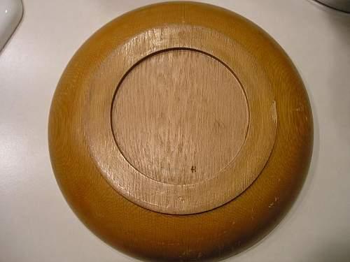 Blut und Boden wooden plate, original?