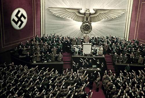 Click image for larger version.  Name:17 Adolf Hitler makes keynote address at Reichstag session, Kroll Opera House, Berlin, 1939.jpg Views:1774 Size:195.8 KB ID:460167