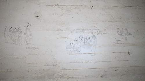 German KM unit Bunker Wall Drawings