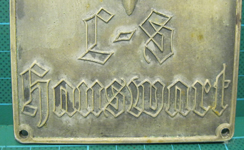 RLB Luftschutz Hauswart plaque