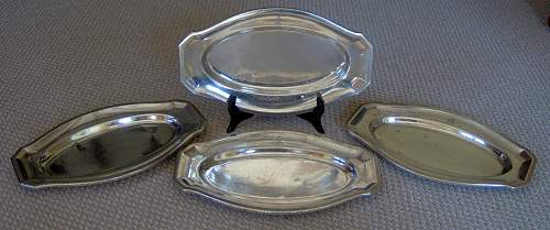 Leibstandarte Adolf Hitler Silver Plate Platters - Value???