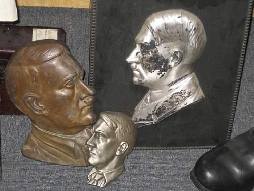 Adolf Hitler Profile Plaque