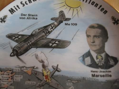Hans-Joachim Marseille Commemorative Plate