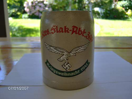 can anyone tell me about this german beer stein and match box
