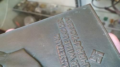 Hitler wall sign / plaque