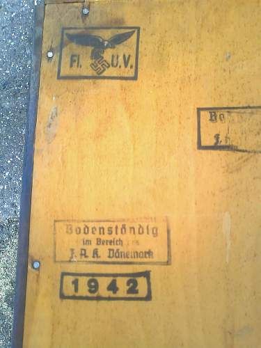 Original german bookcase - for display of german ww2 items.
