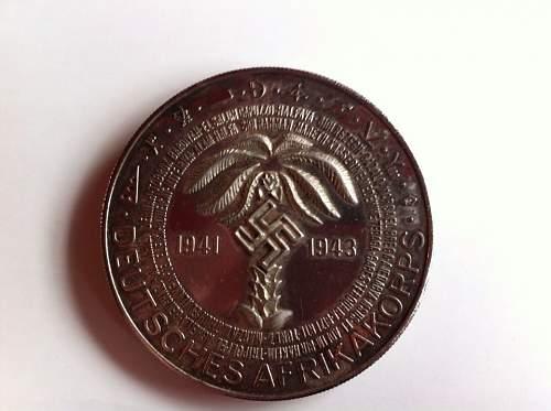Erwin Rommel/Afrika Korps commemoration coin 1981