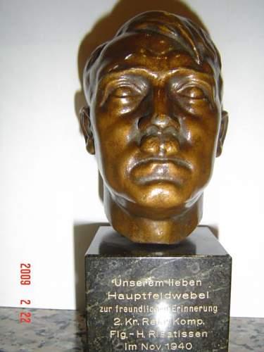 Hitler bronze bust