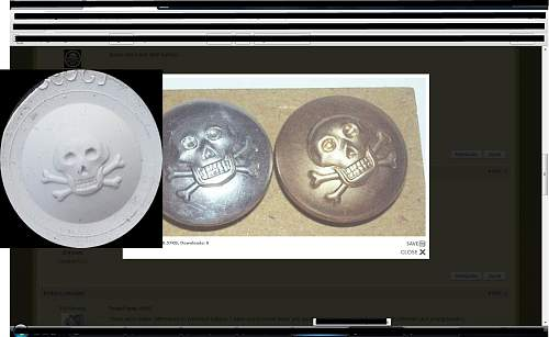 totenkopf knopf schimmel or 17th/21st Lancers button mold