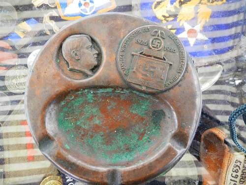 Adolf Hitler trench art ashtray