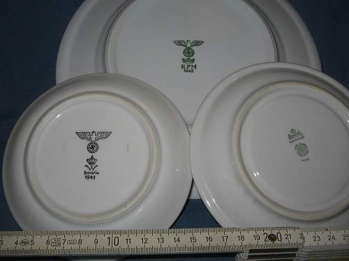Some German WWII saucers - 3 Luftwaffe, 1 Wehrmacht