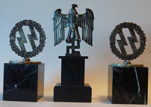 SS Book Ends and Desk Eagle