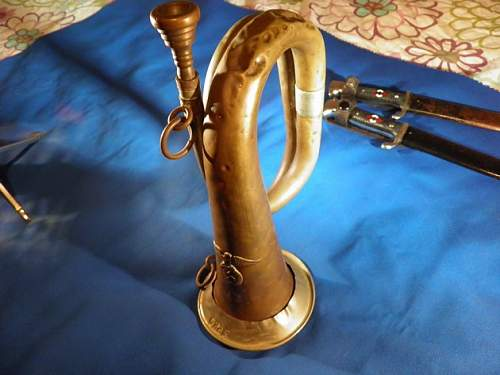 Bugle with marking