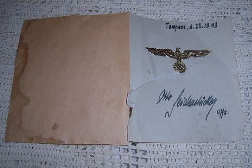 """One lucky Finnish girl got a Wehrmacht  """"golden eagle award"""""""