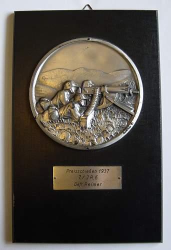 Shooting award plaque