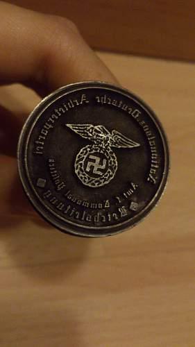 Hitler bust stamp