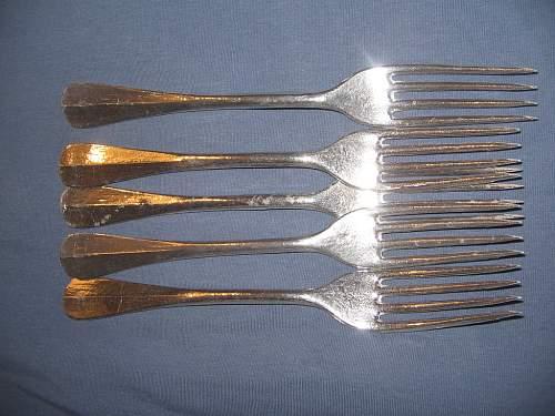 German forks with strange marking - original or not?