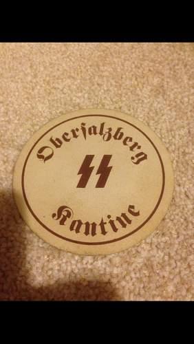 SS Obersalzberg Cantine Beer Mat
