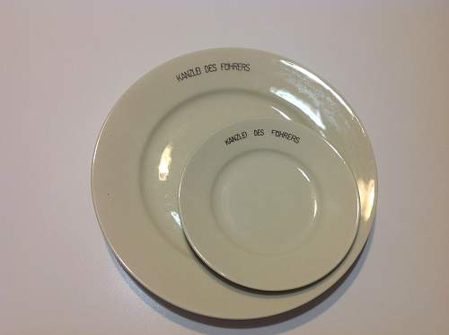 Reich Chancellery dinner plate