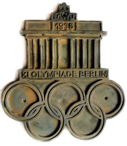 Olympic game Berlin 1936 cast iron plate