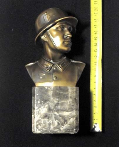 WW2 German soldier Statue .